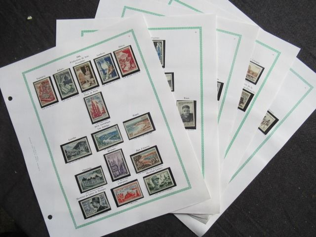 France 1954/1955 - Collection of stamps