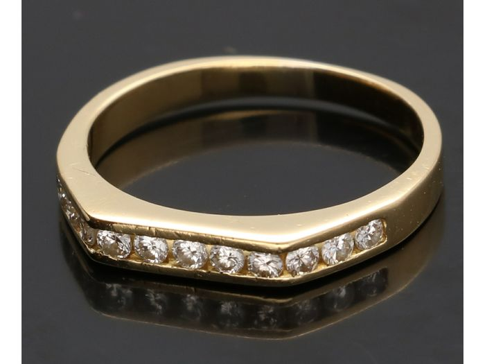 18 kt. Yellow gold - Ring - 0.22 ct Diamond