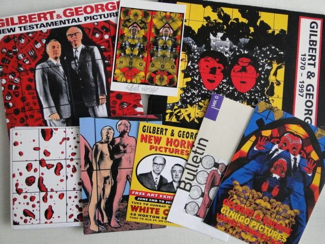 Gilbert & George - New testamental pictures, Gilbert & George 1970 - 1997,  postcard (signed) e.a. - 1998