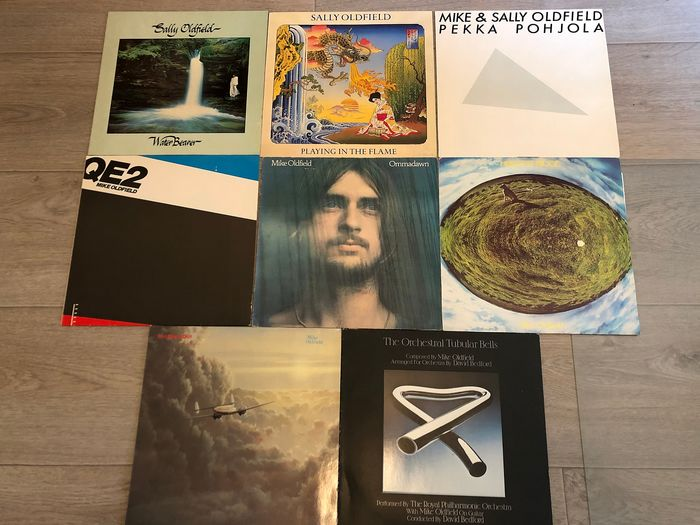 Mike Oldfield & Related, Sally Oldfield - Ommadawn, Hergest Ridge, QE2, Water Bearer, etc. - Multiple titles - LP's - 1974/1982