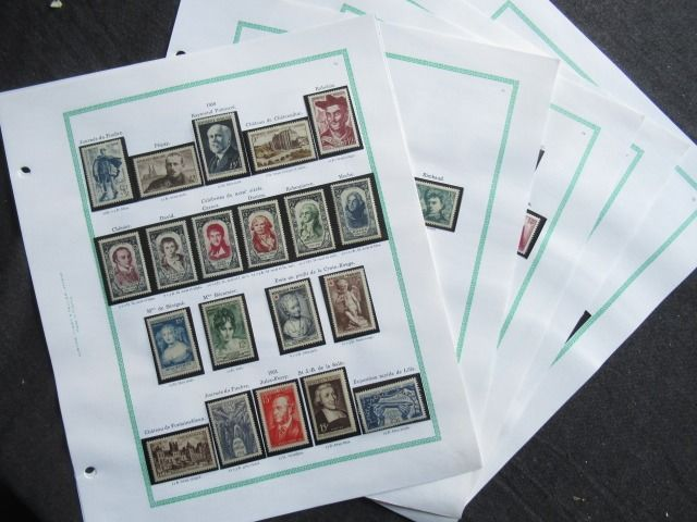 France 1950/1953 - Complete collection of stamps