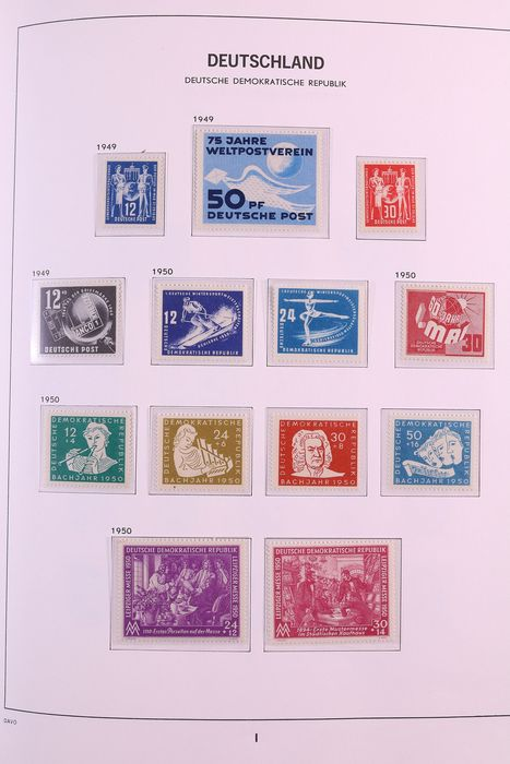 GDR 1949/1990 - Complete collection in three DAVO Standard albums, except for a few stamps