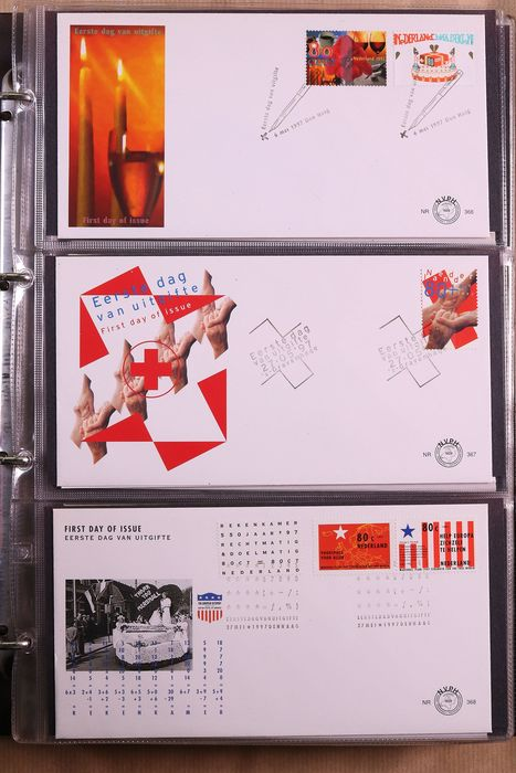 Países Bajos 1997/2016 - Complete collection of FDCs in three albums - NVPH E366/E743