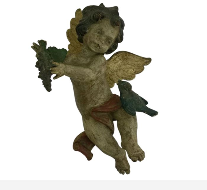 Angel with wing - Plaster