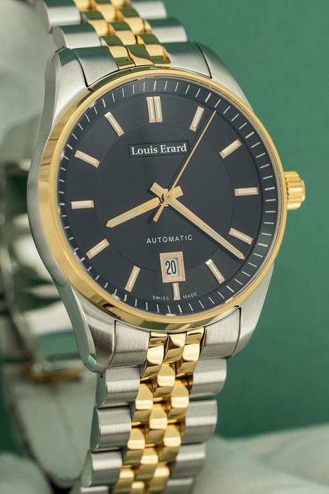 Louis Erard - Automatic Heritage Collection 2 Tone Rose Gold Swiss Made - 69101AB72.BMA58 - Men - Brand New