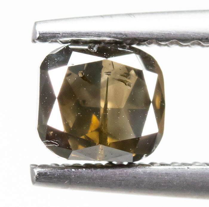 Diamond - 0.81 ct - Natural Fancy DEEP Brown - I1  *NO RESERVE*
