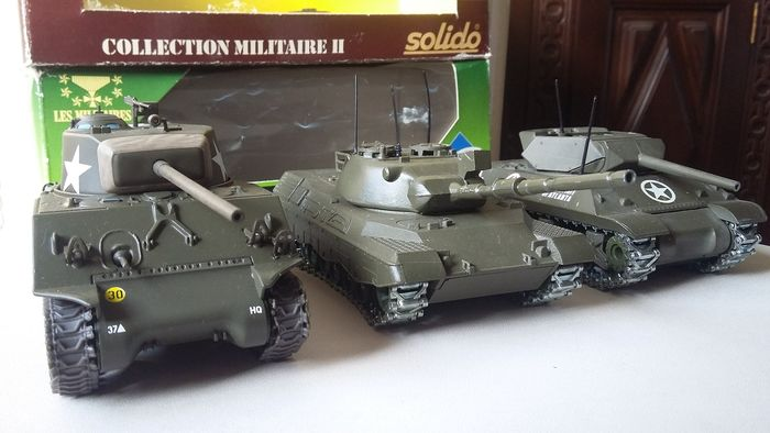 Solido - Tank Tanque Leopard,tanque Sherman e Destroyer - Unknown - U.K.