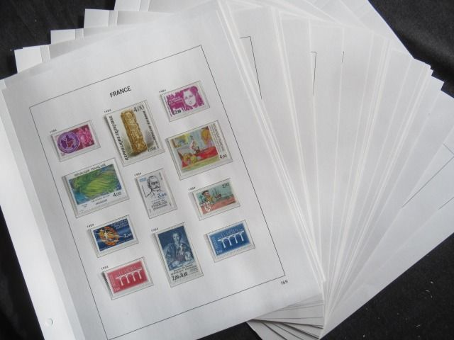 France 1984/1989 - Complete collection of stamps