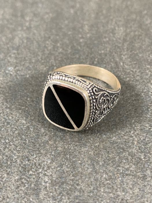835 Silver - Ring Onyx