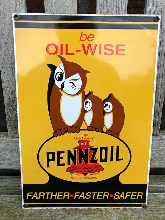 Decorative object - Pennzoil. be OIL-WISE - 1987