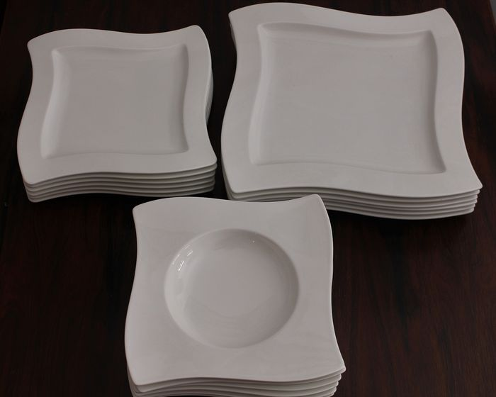 Villeroy & Boch - Plates (18) - Abstract - Porcelain