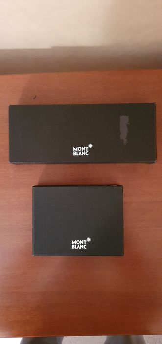Montblanc - Ballpoint pen - Leather keyring with money holder - Complete collection of 2
