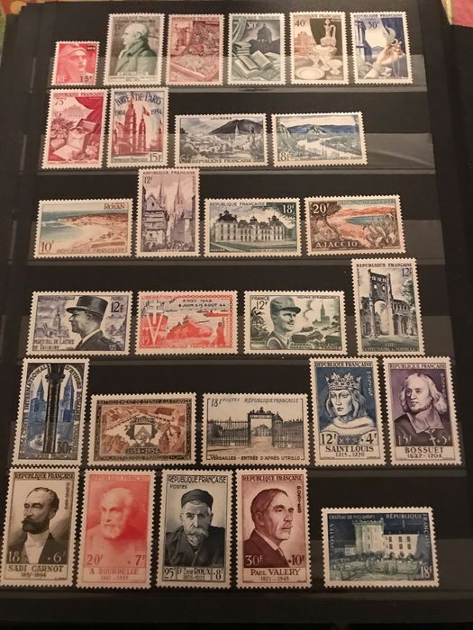 France 1953/1955 - Three complete years of mint** stamps, value: €765 - Yvert