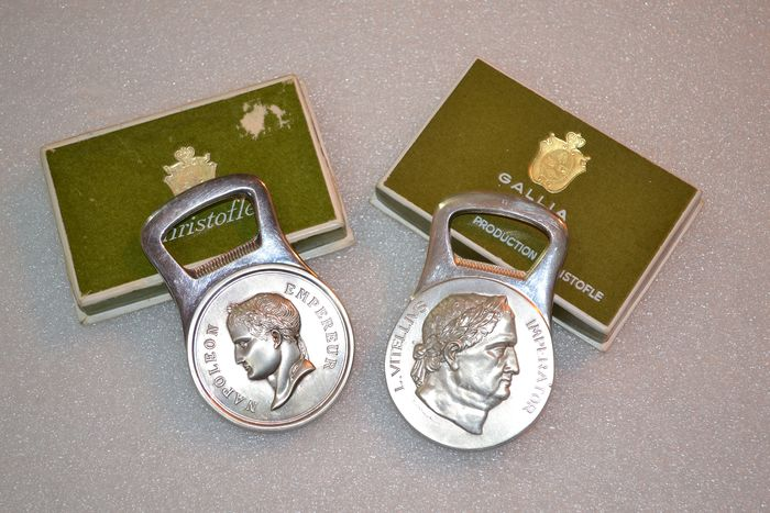 Christofle - Set of 2 silver plated bottle openers - Silver plated metal