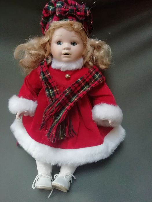 French porcelain Christmas Doll