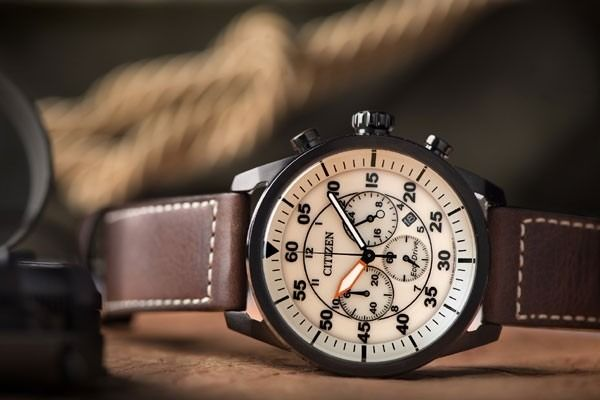 "Citizen - ""NO RESERVE PRICE"" Professional Crono Collezione AVIATOR - Eco Drive  - CA4215 - Bărbați - 2019"