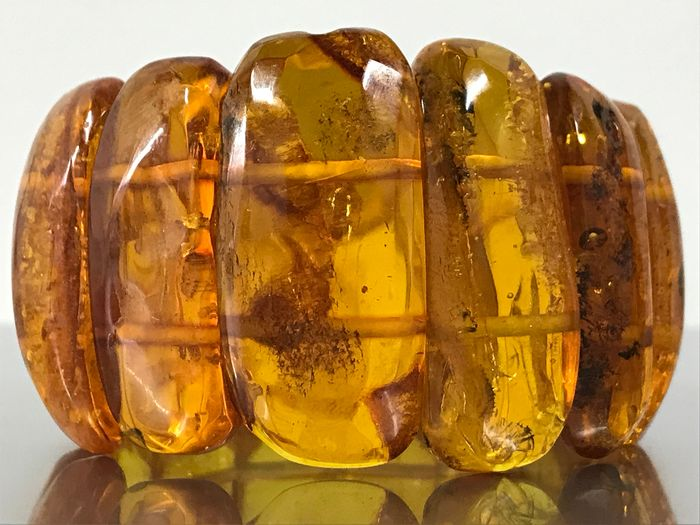 Vintage Old Natural Baltic Amber  - Bracelet - Natural (untreated)