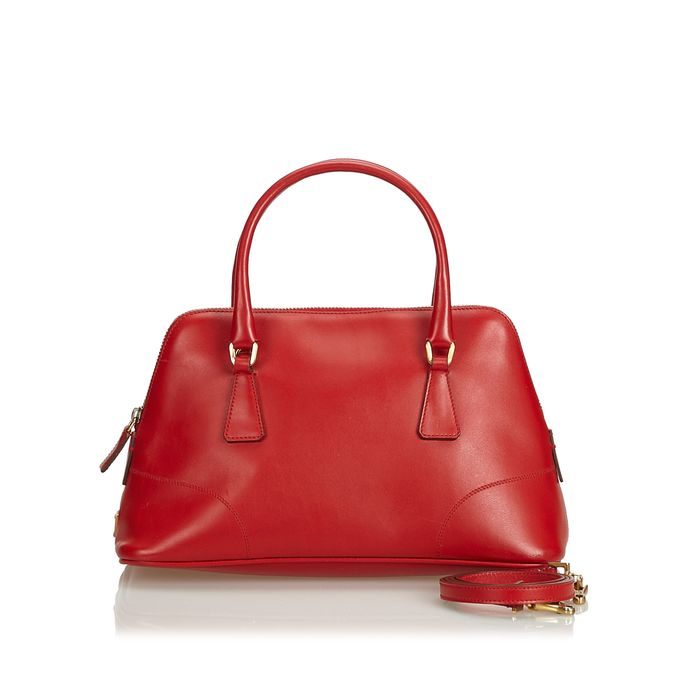 Prada - Leather Dome Satchel Satchel