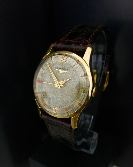 Longines - Gold Filled - Tropical Dial - Beautiful Gents Dress watch - Homme - 1950-1959