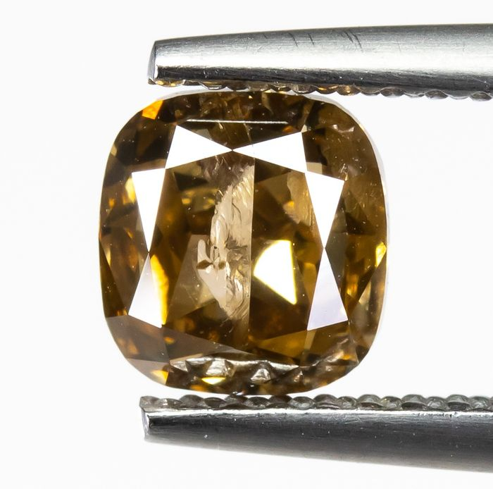 Diamond - 1.29 ct - Natural Fancy Brown-Yellow - I1  *NO RESERVE*
