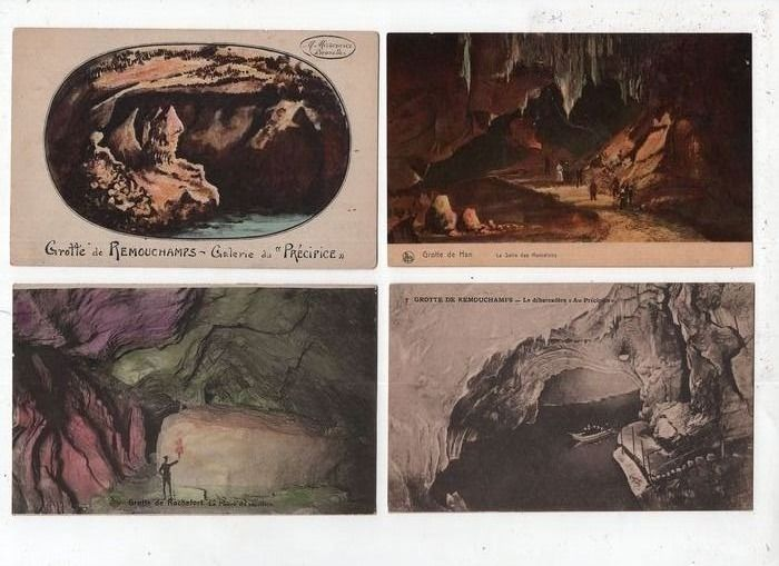 Belgium - City & Landscape, Caving - Postcards (Collection of 103) - 1900-1950