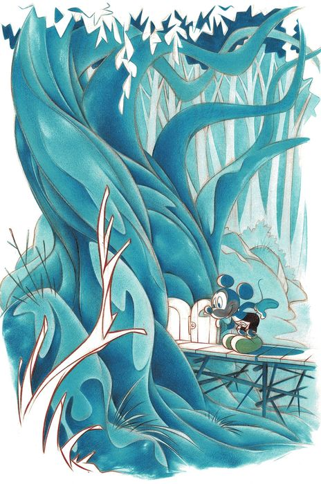 Mickey Mouse Tree House - Signed Giclée 9/10 - Jaume Esteve - Limited Edition