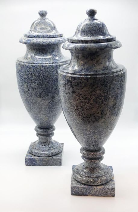 Neoclassical marble Potiches - 60×20×20 cm - (2)