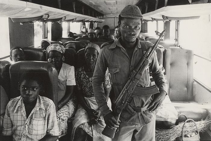 Paul Weinberg (XX) /Afrapix - Frelimo Soldier Protects Bus, Maputo, Mozambique, 1985