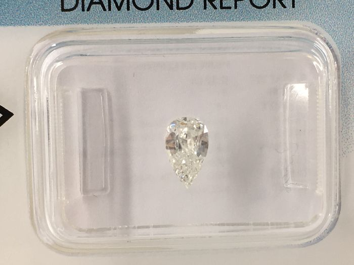 1 pcs Diamant - 0.32 ct - Poire - F - I1