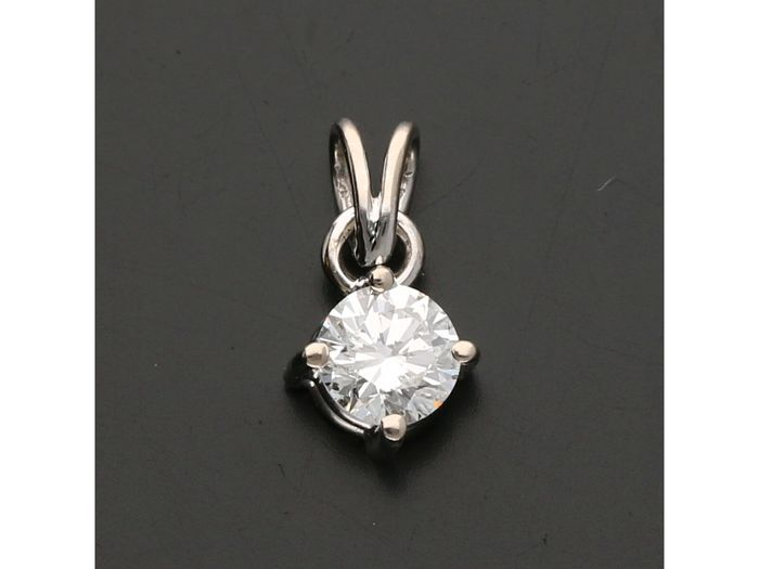 18 karaat Witgoud - Hanger - 0.41 ct Diamant