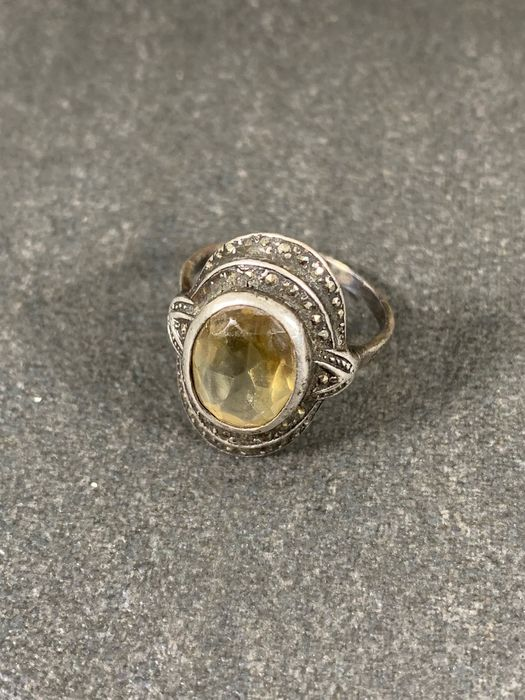 925 Silver - Ring Citrine