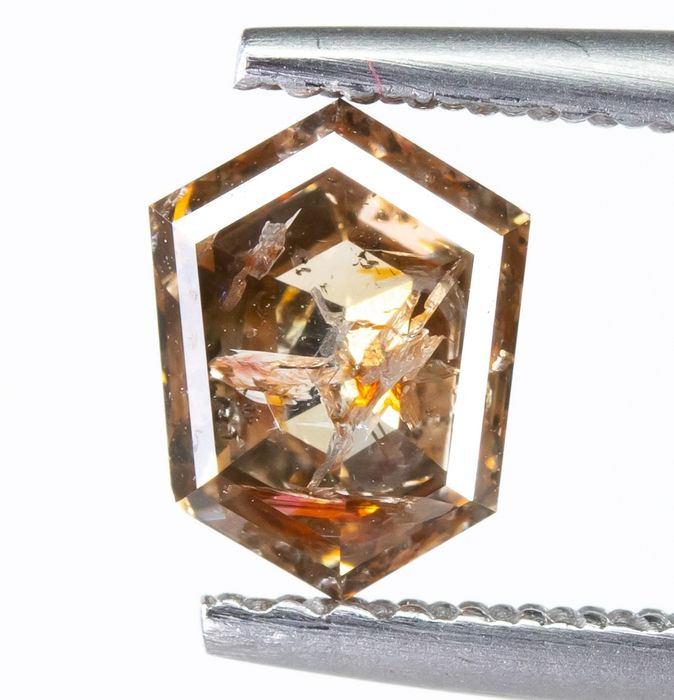 Diamond - 1.10 ct - Natural Fancy Light Orangy Brown - I1  *NO RESERVE*