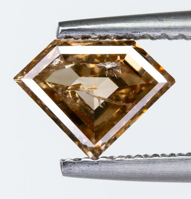 Diamond - 0.81 ct - Natural Fancy Brown-Yellow - I1  *NO RESERVE*