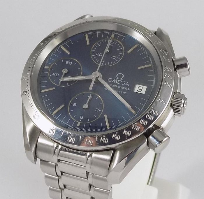 "Omega - Speedmaster Date - Shadow Blue - Automatic Chronograph - ""NO RESERVE PRICE"" - Férfi - 1992"