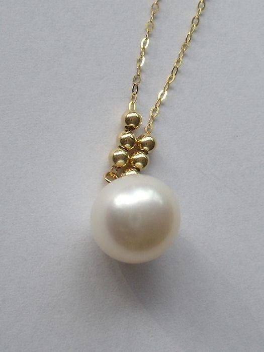 18 kt. South sea pearl, Yellow gold - Necklace with pendant