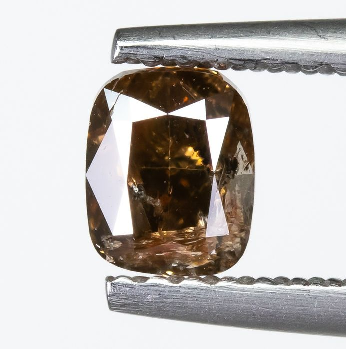 Diamond - 0.65 ct - Natural Fancy DEEP Brown - I1  *NO RESERVE*