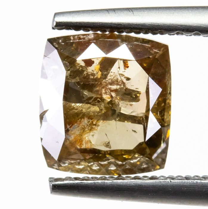 Diamond - 1.58 ct - Natural Fancy Brownish Yellow - I2  *NO RESERVE*