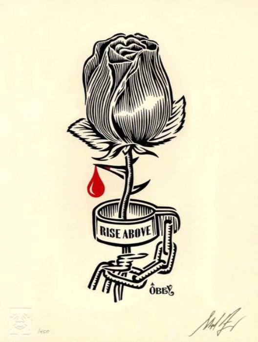 Shepard Fairey (OBEY) - Rose Shackle Stencil