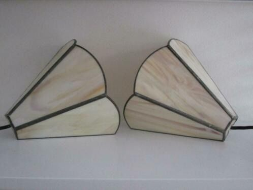 Wall lamps (2) - Glass (stained glass)