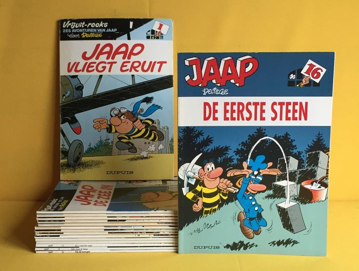 Jaap 1 t/m 16 - Complete reeks - Softcover - First edition - (1977/1997)