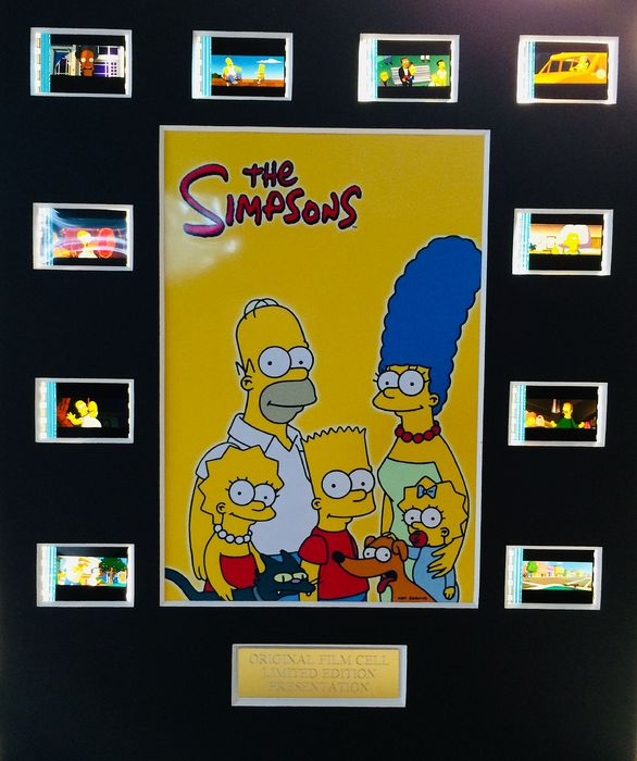 The Simpsons - Limited Edition Film Used Cell Display
