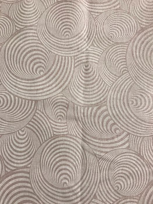 2.80 meters x 2.60 meters of modern fabric with optical illusion effect in beige - Cotton - unknown
