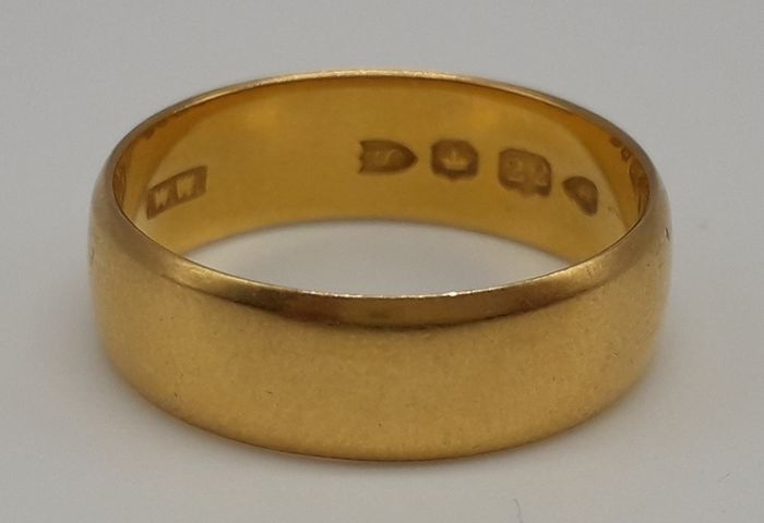 Wedding Band - 22 karaat Geel goud - Ring