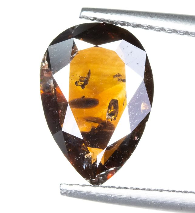 Diamant - 2.50 ct - Natural Fancy DARK Orangy Brown - I1  *NO RESERVE*
