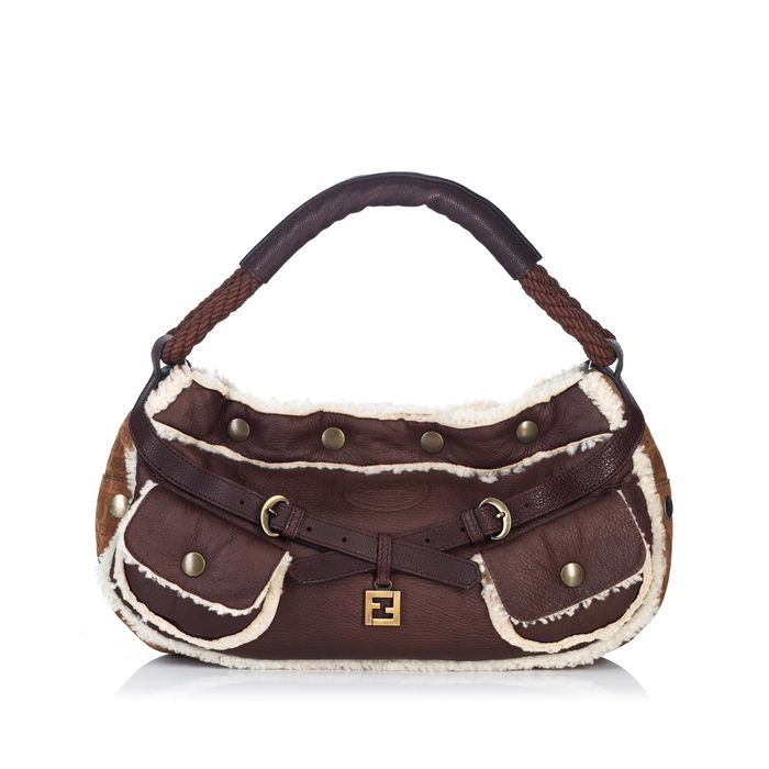 Fendi - Mouton Leather Baguette Hobo Bag