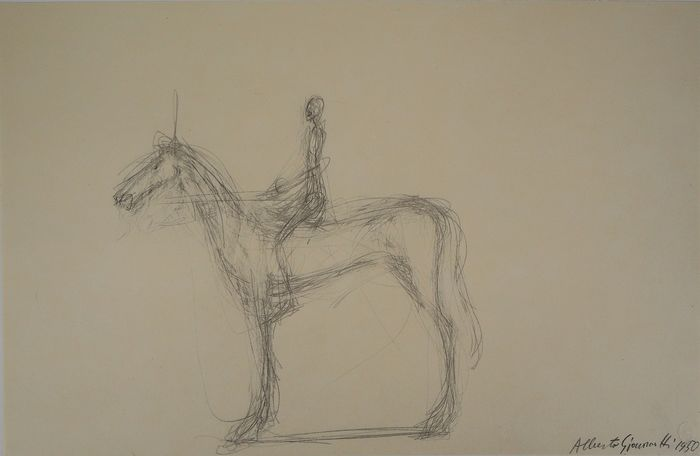 Alberto Giacometti (After) - Homme à cheval