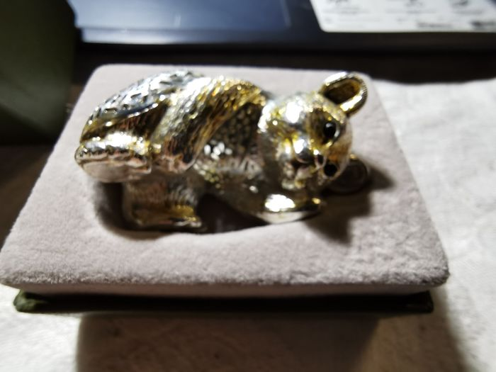 "christofle - silver light collection ""the little bear"" christofle - silver plated"
