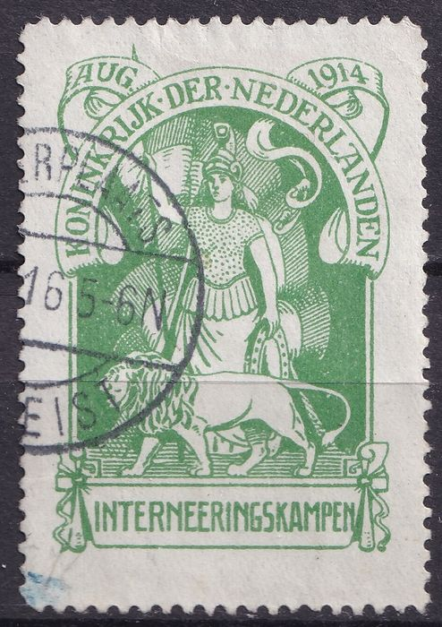 Países Bajos 1916 - Internment camp stamp - NVPH IN1