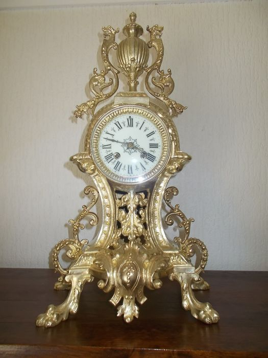 Beautiful Large Mantel clock plated Bronze Japy Freres - Japy Freres - Bronze - Second half 19th century