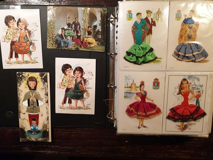 Netherlands - Spanish dancers - Collection of 73 skirt cards, very diverse - Postcards (Collection of 73) - 1968